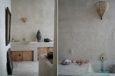 Simple look that could be recreated on a budget with american clay: Moroccan Style Venice Beach : Remodelista
