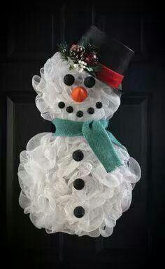 Tulle snowman