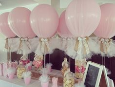 Baby girl christening, christening party, baptism party, baby party, girl c Deco Baby Shower, Fiesta Baby Shower, Girl Shower, Shower Party, Baby Shower Parties, Baby Shower Themes, Bridal Shower, Christening Balloons, Christening Party