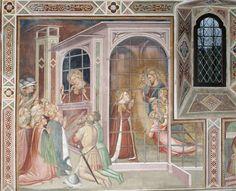 Spinello Aretino - Storie di Santa Caterina d'Alessandria - Santa Caterina in carcere - affresco - 1348-1387 - Oratorio di Santa Caterina delle Ruote - Bagno a Ripoli (Firenze)