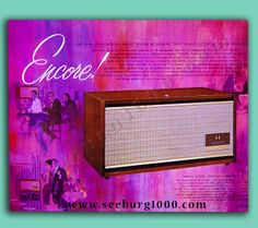 The beautiful Seeburg Encore machine plays the wonderful sounds of Seeburg1000 records.  Take a step back in time with this enjoyable and unique music.