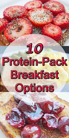 10 healthy breakfast options full of protein. #cleaneating #eatclean #healthyeating #breakfast #healthyweightloss