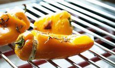 Gegrillte Paprika gefüllt