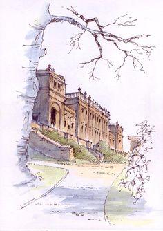 Harewood House ~ sketch ~ John Edwards