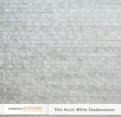 Thin Arctic White Shadowstone, Thinstone Veneers from Realstone Systems