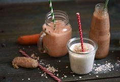 Őszi smoothie-k recept képpel. Hozzávalók és az elkészítés részletes leírása. Az őszi smoothie-k elkészítési ideje: 5 perc Smoothies, Paleo, Food And Drink, Pudding, Drinks, Sweet, Desserts, Recipes, Shake