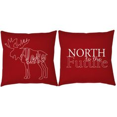 Show your Alaska state pride with these hand-made throw pillows!