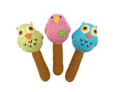 Amazon.com: Yellow Label Kids Organic Bird Rattles, Hand Knit, Pink: Toys & Games