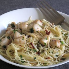 Scallops With Capellini