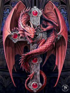 Эскиз дракона с крестом