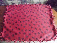 Paw Print Fleece Dog Chew Blanket  large by PamperedPupsBakery, $8.00