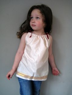 Upcycled Sari Fabric Top for Toddlers 2-5 years