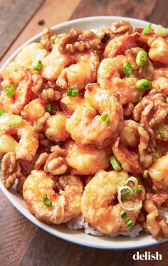 healthy shrimp recipes Eat-in tonight with this recipe for sweet and crunchy Honey Walnut Shrimp from Baked Shrimp Recipes, Shrimp Recipes For Dinner, Seafood Recipes, Cooking Recipes, Copycat Recipes, Drink Recipes, Restaurant Recipes, Meals With Shrimp, Fish Recipes