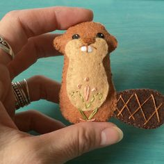 https://flic.kr/p/JVw8zA | Beaver  | From my woodland creatures sewing…