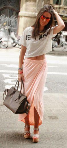 Maxi Skirt + Casual T