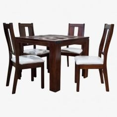 Juego Comedor Suecia Small (Chocolate) Unique Dining Tables, Glass Dining Room Table, Dining Room Design, Dining Bench, Dining Chairs, Furniture, Home Decor, Chocolate, Dining Table Design