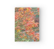 Waves of Montbretia: Hardcover Journal - available to purchase from Redbubble Phone Covers, Duvet Covers, Stationery, Waves, Journal, Stuff To Buy, Painting, Design, Art