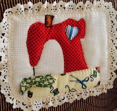 Aplicação/capa de máquina de costura em patchwork