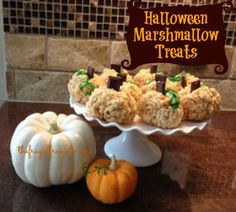 #Halloween Marshmallow Treats #Recipe