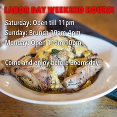Have a wonderful weekend and stop in to enjoy out Italian Specials and of course SUNDAY BRUNCH!! #knoxeats