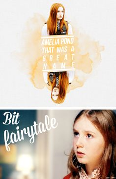 Amelia Pond that was a great name. Bit fairytale. #doctorwho