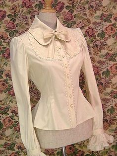Lolibrary | Mary Magdalene - Blouse - Perle Doll Blouse http://www.lolibrary.org/apparel/perle-doll-blouse
