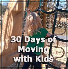 Ideas for Daily fitness with your kids - 30 Days of Moving with Kids Challenge. - 3Dinosaurs.com
