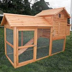 Corral your hens and chickens with this eye-catching coop, perfect in your backyard or on your urban rooftop.  Product: Chicken coopConstruction Material: Wood and metal Features:  Coated with water based preservativeHeavy duty galvanized wire helps keep chickens in and predators outHinged roof�for easy access to refill food Dimensions: Coop: 25 H x 23 W x 24 DNesting Box: 20 H x 11 W