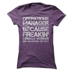 Operations Manager Job Title T-Shirt Hoodie Sweatshirts ueo. Check price ==► http://graphictshirts.xyz/?p=42538