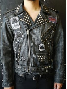 Forgotten Saints La Motorhead Distressed Leather Biker Jacket ForgottenSaintsLa