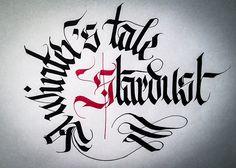 Calligrafia su schema circolare