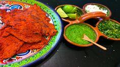 Receta de carne enchilada o carne adobada para hacer tacos Mexican Food Recipes, Dinner Recipes, Ethnic Recipes, Carne Adobada, Chorizo, Tandoori Chicken, Pork, Lunch, Meat