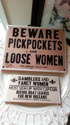 new orleans bar signs gamblers and loose women river boat signs nola signs fancy women pickpockets groomsman gift bachelor gifts