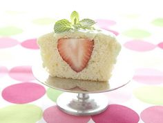 Strawberry inside cupcake