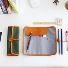 DIY Inspiration: Roll Pencil Case >> Make one of these for knitting supplies?