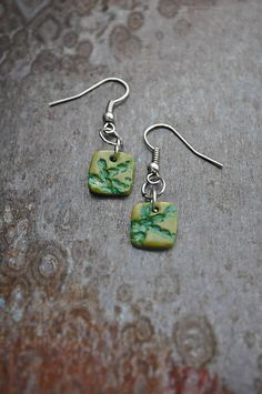 HandmadeFamily / Zelené náušnice