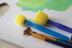 Schilderij met ballonnen - DIY   Lisanne Leeft Diys, Painting, Bricolage, Painting Art, Do It Yourself, Paintings, Painted Canvas, Homemade, Diy