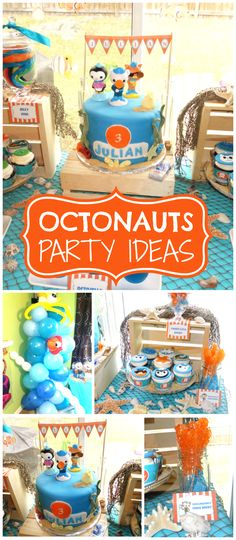 An Octonauts themed birthday party with fun party decorations and party food! See more party planning ideas at CatchMyParty.com!