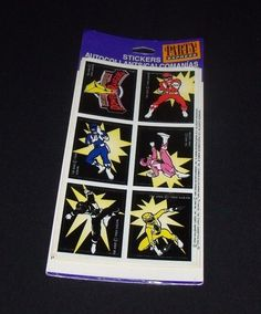 Vintage Mighty Morphin Power Rangers Stickers 4 Sheets 1994 Party Express NEW #PartyExpress