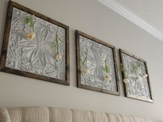 Faux Tin Panel Wall