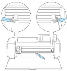 Clean inside the machine if there are vertical lines or blank areas in a scanned image. Use a soft brush.