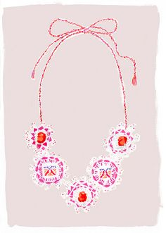 Necklace illustration by Danielle Kroll