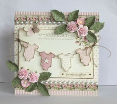 Pink baby card