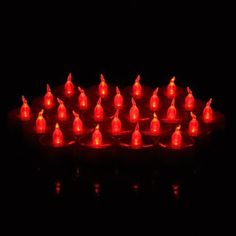 WEANAS 24pcs LED Tea Lights Unscented Candles Flickering Bulb with Timer