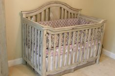 Vintage Look Baby Crib by VintageCribs on Etsy, $1200.00