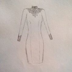 Our grand opening starts today at 10 and ends at 2! We look forward to celebrating with you at 17 Tokay Lane.  Above, where the Lim'ore magic begins - an early sketch of a black dress with a jeweled neckline.  #grandopening #celebrate #fashion #black #dress #jewels #fashionista #fashiondesign #style #hautecouture #luxe #design #stylish #instafashion