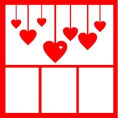 Hearts-12 x 12 Laser Die Cut Scrapbook Overlay