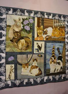 2015 Tokyo International Great Quilt Festival. Cat quilt. Photo by Koala's Place.