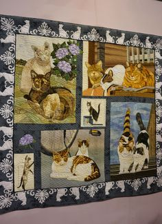 2015 Tokyo International Great Quilt Festival. Cat quilt. Photo by Koala's Place.