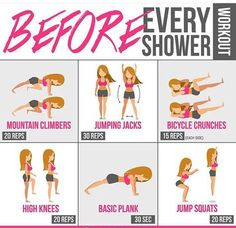 Before Every Shower Workout ! Healthy Fitness Training Abs Butt